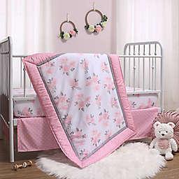 The Peanutshell™ Pink Floral 3-Piece Crib Bedding Set