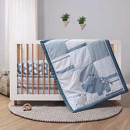 The Peanutshell™ Little Rhino 3-Piece Crib Bedding Set in Blue/White<br />