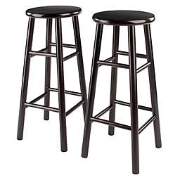 Winsome Trading Tabby Stools with Rounded Legs (Set of 2)