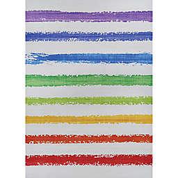 Couristan Rainbow Flavors Area Rug in Spearmint/Multicolor