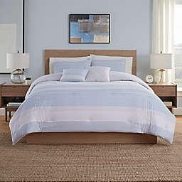 Allie Comforter Sets in Blue/Grey