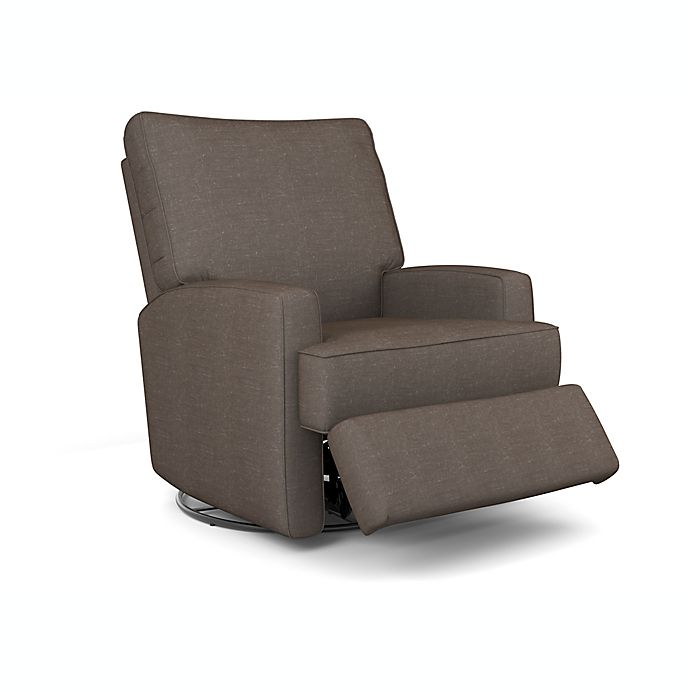 Alternate image 1 for Best Chairs® Custom Kersey Swivel Glider Recliner in Charcoal Grey