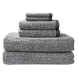 Essential Diamond 6-Piece Bath Sheet Set in Grey