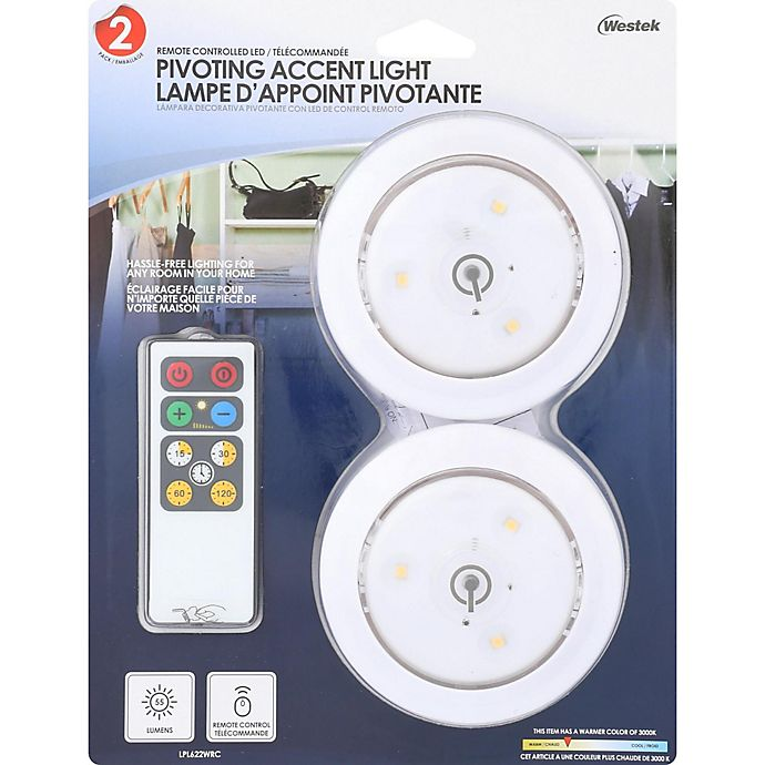 Alternate image 1 for Puck Lights Battery Operated with Remote Control (Set of 2)
