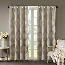 SunSmart Bentley Ogee Knitted Jacquard Total Blackout Window Curtain Panel (Single)