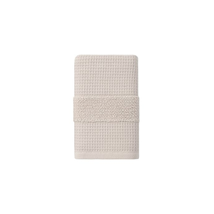 Alternate image 1 for Haven™ Organic Cotton Waffle & Terry Hand Towel in Pumice Stone