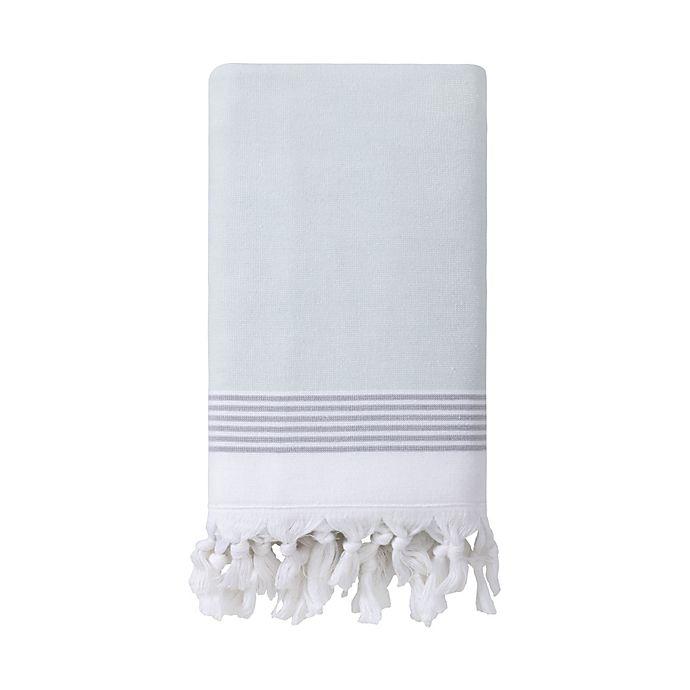Alternate image 1 for Haven™ Organic Cotton Flatweave Bath Towel in Sky Grey