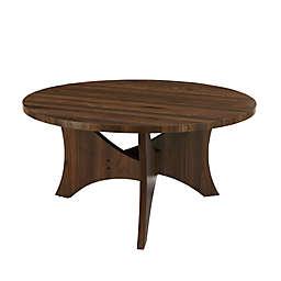 Forest Gate™  Mid-Century Round Coffee Table in Dark Walnut