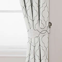 Brent Embroidered Window Curtain Tie Backs (Set of 2)