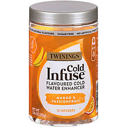Twinings® Cold Infuse Passion Fruit, Mango, & Blood Orange Cold Water Enhancers 12-Count