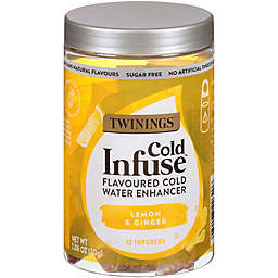 Twinings® Cold Infuse™ Lemon, Orange, & Ginger Flavored Cold Water Enhancers 12-Count