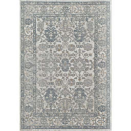 Rugs America Milford Chateau Grounds Area Rug in Ivory/Navy