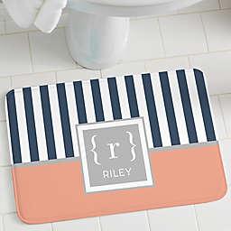 Classy Monogram Personalized Foam Bath Mat