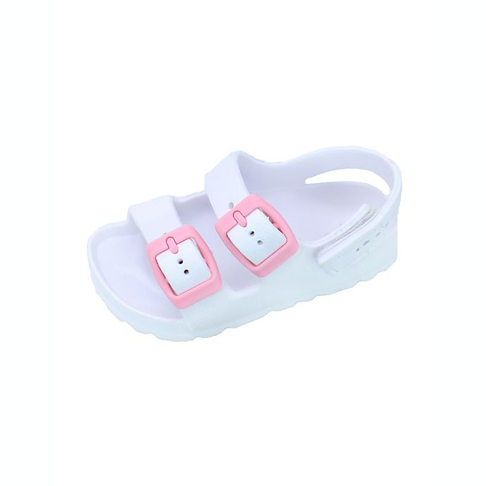 Alternate image 1 for Stepping Stones Size 5 Trendy Sandal in White