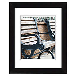 Gallery Solutions Black Frame with White Mat