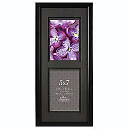Gallery Solutions Double Matted Wall/Easel Wood Picture Frame in Black