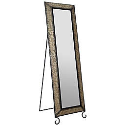 Gallery Solutions 66.5-Inch x 20.1-Inch Rectangular Embossed Full Length Mirror in Antique Bronze