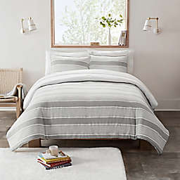 UGG® Devon 2-Piece Reversible Twin/Twin XL Comforter Set in Seal Grey Stripe