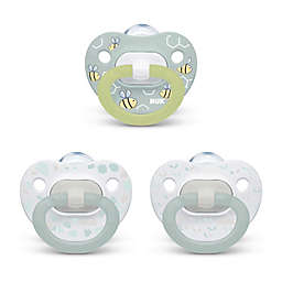 NUK® Boy 0-6M 3-Pack Orthodontic Pacifiers in Grey/Multi