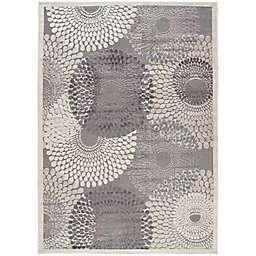 Nourison Graphic Illusions Area Rug in Grey