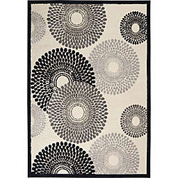 Nourison Gil Sunburst 7-Foot 9-Inch x 10-Foot 10-Inch Area Rug in Parchment