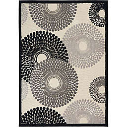 Nourison Gil Sunburst 5-Foot 3-Inch x 7-Foot 5-Inch Area Rug in Parchment