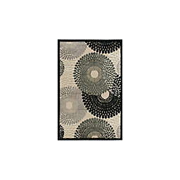 Nourison Gil Sunburst 3-Foot 6-Inch x 5-Foot 6-Inch Area Rug in Parchment