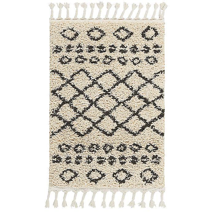 Alternate image 1 for Nourison Moroccan Shag Machine Woven Rug in Cream