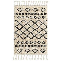 Nourison Moroccan Shag Machine Woven Rug in Cream