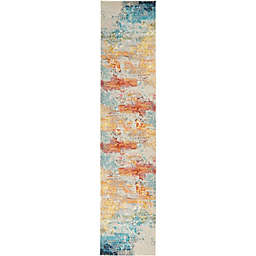 Nourison Celestial Abstract 2' x 6' Runner in Sealife