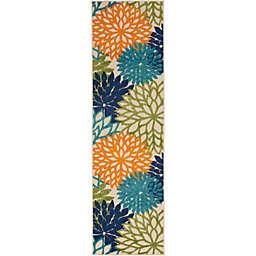 Nourison™ Aloha Floral Burst 2'3 x 8' Indoor/Outdoor Runner
