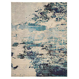 Nourison Celestial Abstract 9' x 12' Area Rug in Ivory/Teal
