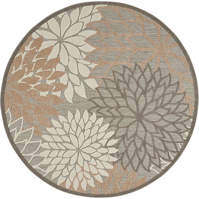 Alternate image 1 for Nourison Aloha 7'10 Round Indoor/Outdoor Area Rug in Natural