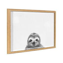 Kate & Laurel™ Blake Sloth 18-Inch x 24-Inch Glass Dry Erase Board