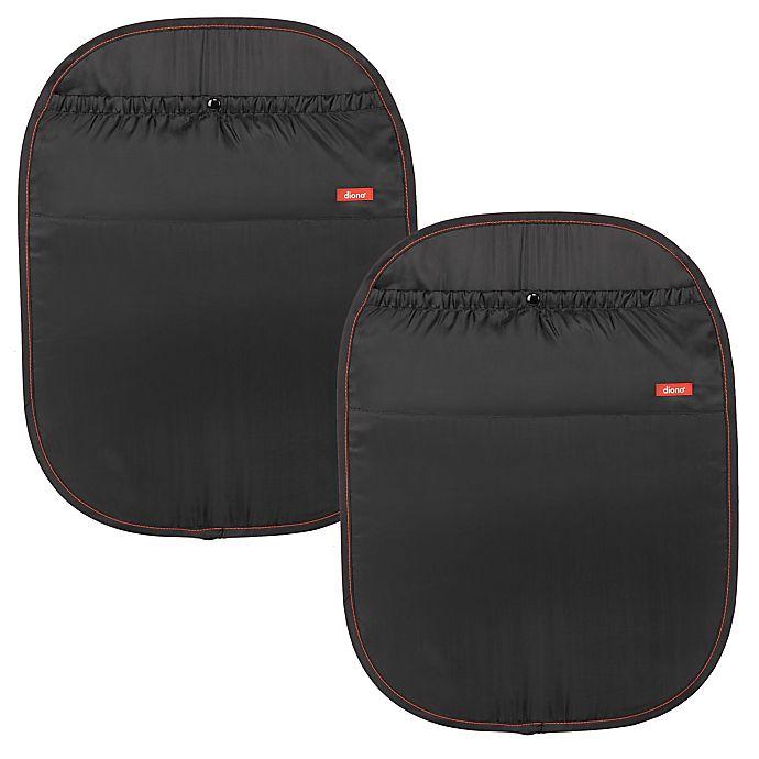 Alternate image 1 for Diono® Stuff N' Scruff™ Two2Go Kick Mats in Black (Pack of 2)