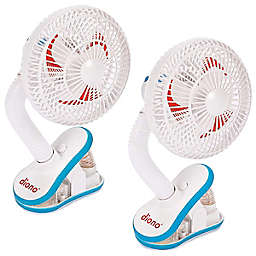 Diono® Two2Go Stroller Clip Fans in White (Pack of 2)