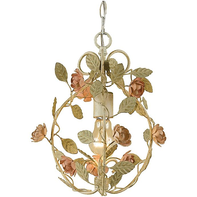 Alternate image 1 for AF Lighting Elements Ramblin' Rose Mini Chandelier in Cream