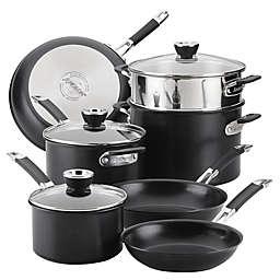 Anolon® SmartStack™ Nonstick Hard-Anodized Aluminum 10-Piece Cookware Set in Black