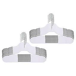 Squared Away™ No Slip Slim Children's Hangers in White (Set of 18)