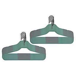 Squared Away™ Slim Grips Hangers with Black Hook (Set of 16)