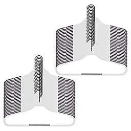 Squared Away™ Slim Grips Hangers with Black Hook (Set of 50)