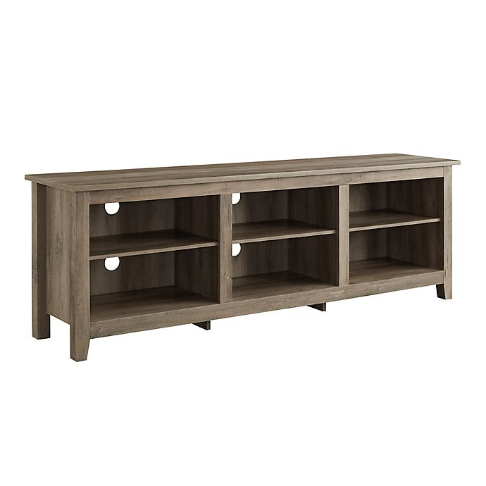 Alternate image 1 for Forest Gate 70-Inch Asher Traditional Wood TV Stand in Grey Wash