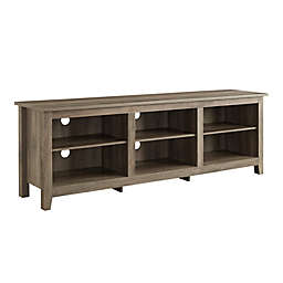 Forest Gate 70-Inch Asher Traditional Wood TV Stand in Grey Wash