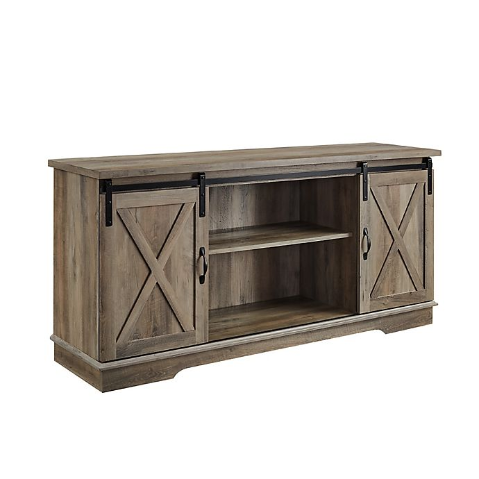 Alternate image 1 for Forest Gate™ Englewood 58-Inch Barn Door TV Stand