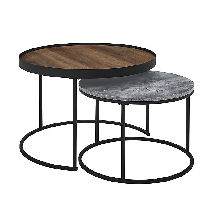 Piece Round Nesting Coffee Tables, Nesting Coffee Tables Round