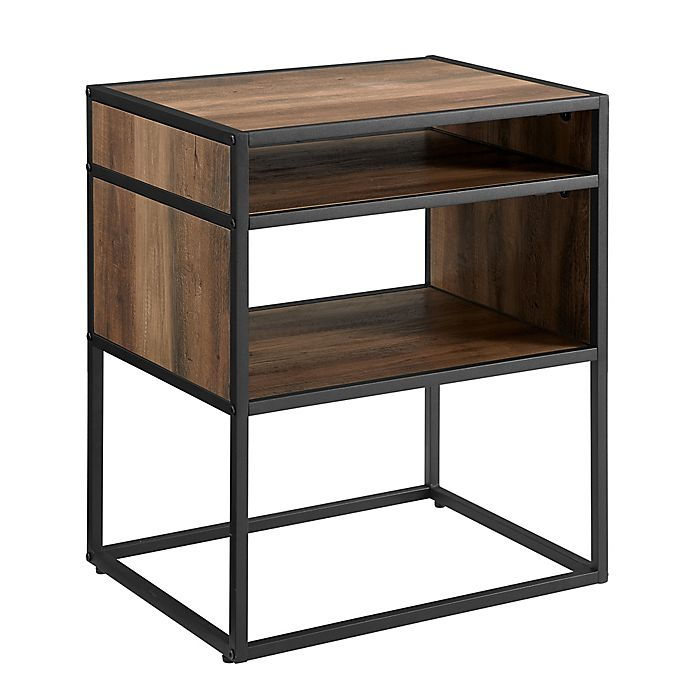Alternate image 1 for Forest Gate™ 20-Inch Elm Industrial Modern Wood Side Table