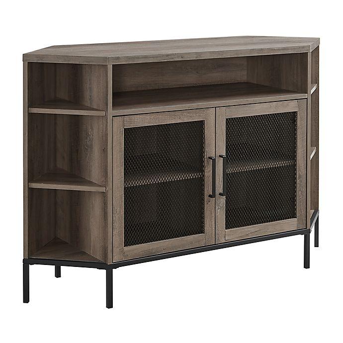 Alternate image 1 for Forest Gate™ 48-Inch Metal Mesh Corner TV Stand
