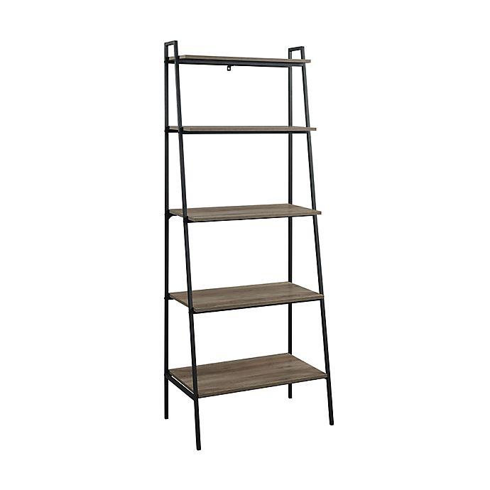 Alternate image 1 for Forest Gate™ Mid-Century Modern 72-Inch Ladder Bookshelf