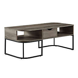 Forest Gate™ 1-Drawer Curved Coffee Table in Grey Wash