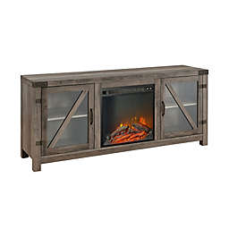 Forest Gate™ 58-Inch Glass Door Electric Fireplace Console